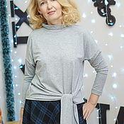 Одежда handmade. Livemaster - original item Blouson pullover cotton knit Nina. Handmade.