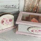 Для дома и интерьера ручной работы. Ярмарка Мастеров - ручная работа шкатулка короб для чайных пакетиков Розовое удовольствие. Handmade.