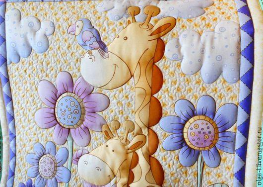 """Пледы и одеяла ручной работы. Ярмарка Мастеров - ручная работа. Купить Детское одеяло  """"Жирафы"""". Handmade. Детское одеяло"""