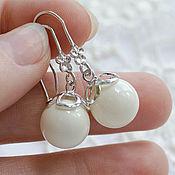 Украшения handmade. Livemaster - original item Earrings Milk. Handmade.