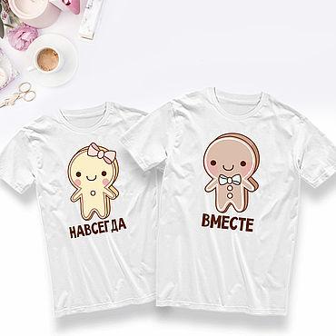 Одежда ручной работы. Ярмарка Мастеров - ручная работа Парные футболки для влюбленных на заказ. Handmade.