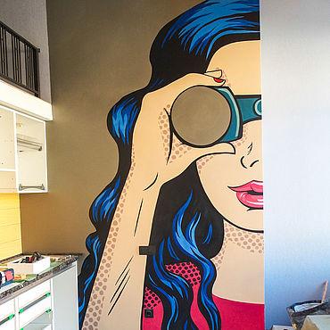 Дизайн и реклама ручной работы. Ярмарка Мастеров - ручная работа Декор: Роспись стен Поп-арт. Handmade.