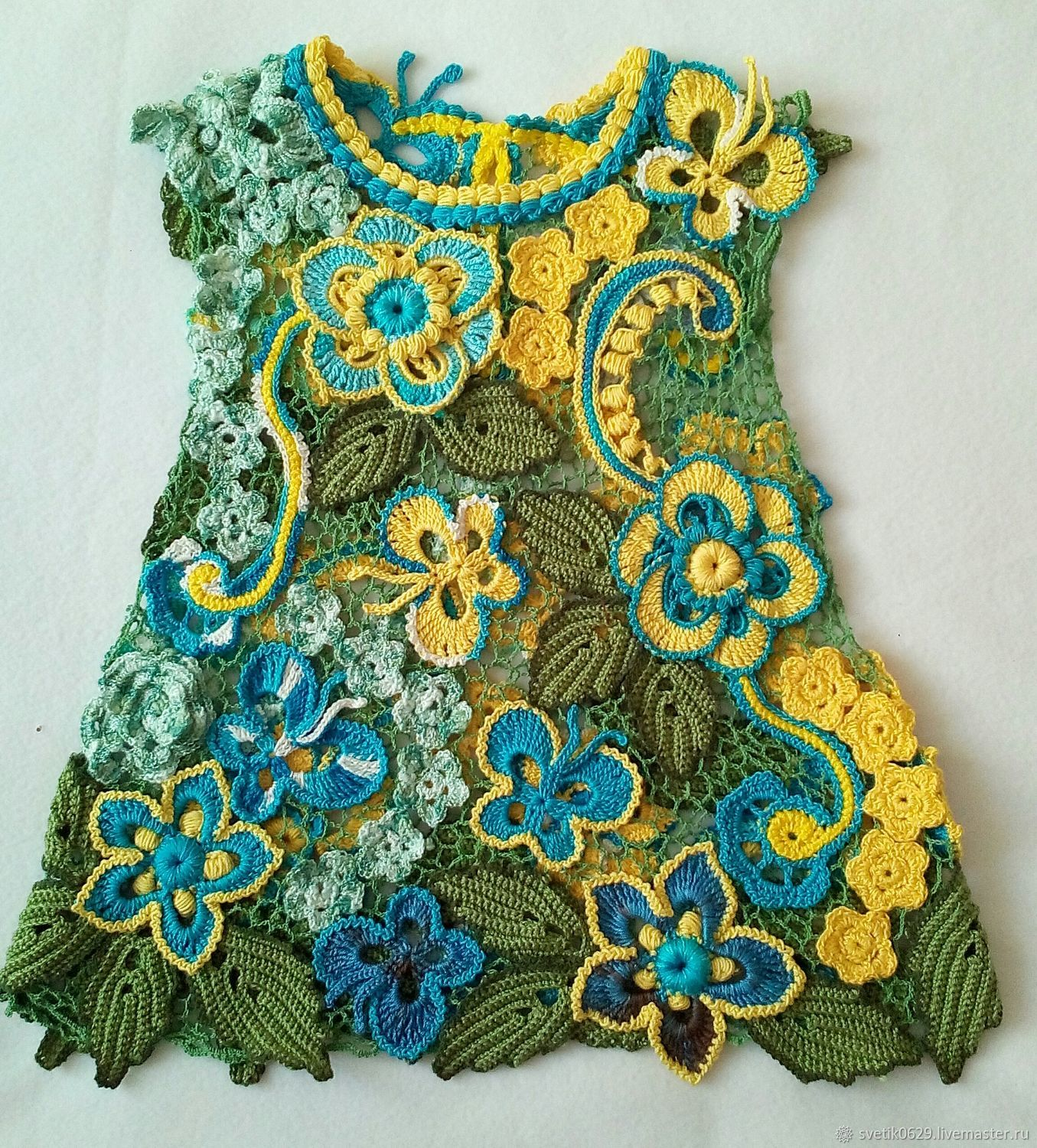 Girl's dress crochet technique Irish lace ', Childrens Dress, Ekaterinburg,  Фото №1