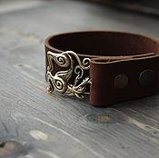 Украшения handmade. Livemaster - original item Leather bracelet .bracelet Viking Ragnarok. Handmade.