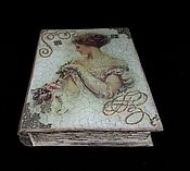 Для дома и интерьера handmade. Livemaster - original item Box-book with a lock ,,Lady,, jewelry box. Handmade.