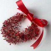 Necklace handmade. Livemaster - original item Necklace of red coral