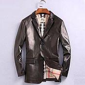 Мужская одежда handmade. Livemaster - original item Men`s jacket, elongated, made of genuine calf leather!. Handmade.