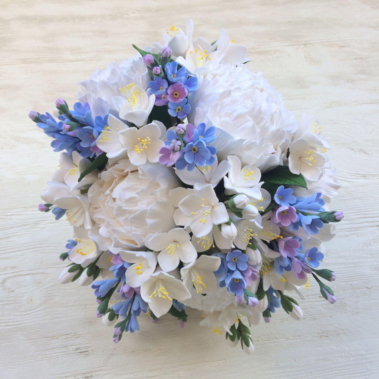 Букет невесты из незабудок купить, цветы