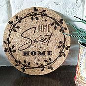 Для дома и интерьера handmade. Livemaster - original item Stand under a hot: Home sweet home. Handmade.