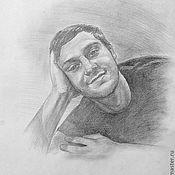 Картины и панно ручной работы. Ярмарка Мастеров - ручная работа Мужской портрет по фотографии. Handmade.