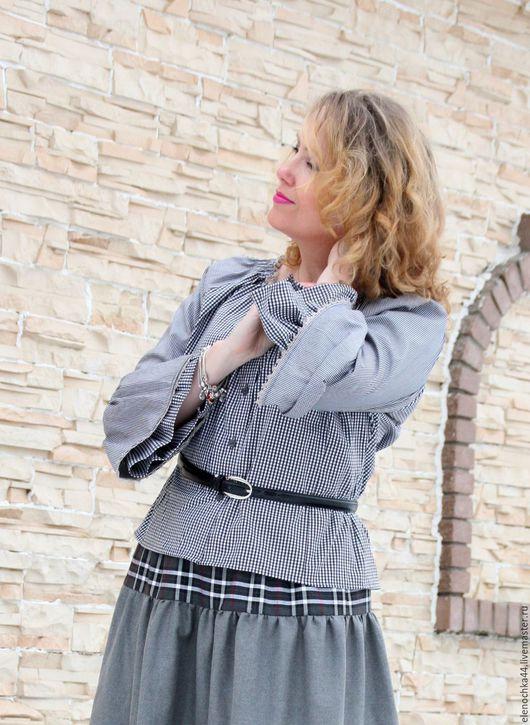"""Блузки ручной работы. Ярмарка Мастеров - ручная работа. Купить Блуза бохо """"Украшение"""". Handmade. Темно-серый, шебби, купечество"""