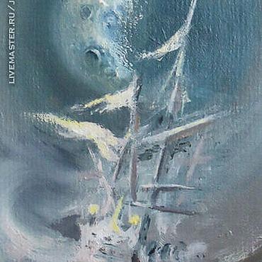 """Картины и панно ручной работы. Ярмарка Мастеров - ручная работа Авторская работа. Картина. """"Лунный корабль"""". Handmade."""