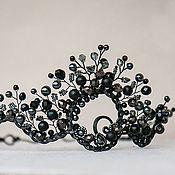 """Украшения ручной работы. Ярмарка Мастеров - ручная работа Корона """"Черная королева"""" готическая диадема. Handmade."""