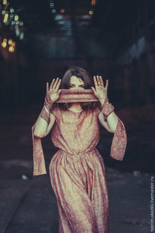 """Платья ручной работы. Ярмарка Мастеров - ручная работа. Купить Платье """"Позолота"""". Handmade. Рыжий"""