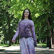 "Одежда ручной работы. Ярмарка Мастеров - ручная работа Шёлковая, валяная блуза ""Орхидея"". Handmade."
