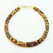 Украшения handmade. Livemaster - original item Harness beaded Honey. Handmade.