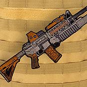 Материалы для творчества handmade. Livemaster - original item Patch M-16 patch Chevron rifle patch. Handmade.