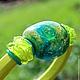 """Браслеты ручной работы. Ярмарка Мастеров - ручная работа. Купить Браслет регализ """"Поле"""". Handmade. Зеленый, авторский лэмпворк, природа"""