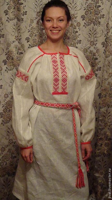 Этническая одежда ручной работы. Ярмарка Мастеров - ручная работа. Купить рубаха ОБЕРЕЖНАЯ. Handmade. Белый, рубахи в русском стиле