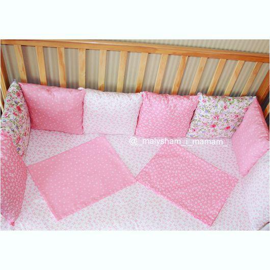Детская ручной работы. Ярмарка Мастеров - ручная работа. Купить Бортики-подушки в детскую кроватку. Handmade. Бортики в кроватку, хлопок