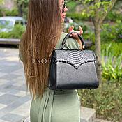 Сумки и аксессуары handmade. Livemaster - original item Black handbag made from Python. Handmade.