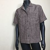 Рубашки ручной работы. Ярмарка Мастеров - ручная работа Мужская рубашка Linen /100% лен. Handmade.