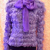 Одежда ручной работы. Ярмарка Мастеров - ручная работа Джемпер  женский вязаный  Сиреневый шик. Handmade.