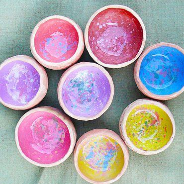 Посуда ручной работы. Ярмарка Мастеров - ручная работа Радужные пиалы. Handmade.