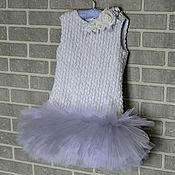 Работы для детей, handmade. Livemaster - original item Dress is made of tulle with a fluffy skirt for girls 5. Handmade.