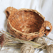 Для дома и интерьера handmade. Livemaster - original item Wicker basket for storage of nuts,onions,garlic, a lot more:). Handmade.