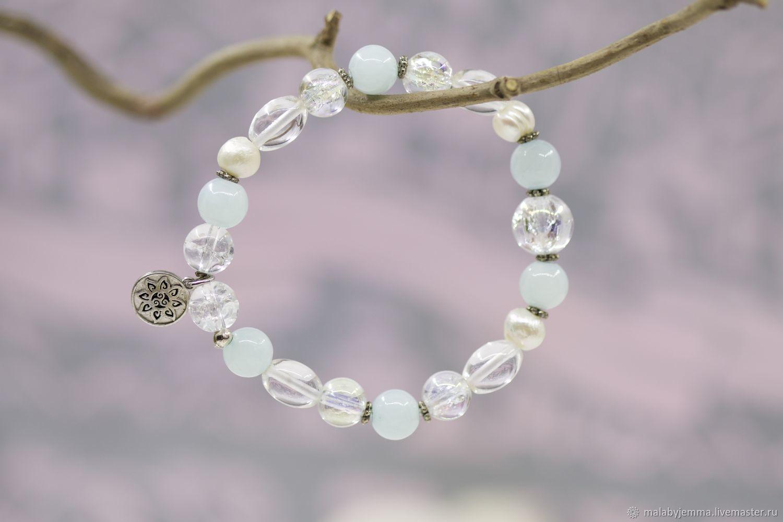 Bracelet with Amazonite ' Soulful Mood», Bead bracelet, Magnitogorsk,  Фото №1