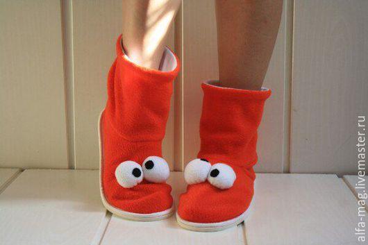 """Обувь ручной работы. Ярмарка Мастеров - ручная работа. Купить Тапочки- Чуники. """"Косоглазики"""". Handmade. Мишка, детские вещи"""