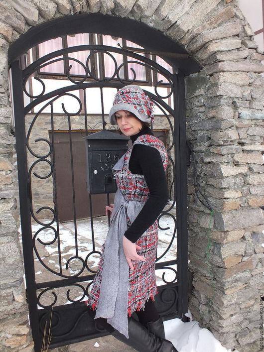 """Платья ручной работы. Ярмарка Мастеров - ручная работа. Купить Сарафан валяный """"Стелла"""". Handmade. Серый, одежда для женщин"""