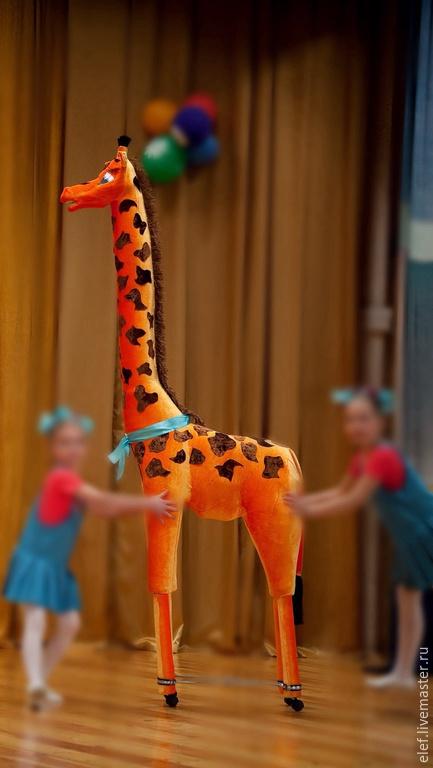 Игрушки животные, ручной работы. Ярмарка Мастеров - ручная работа. Купить Жираф сборный. Handmade. Оранжевый, карнавал, паралон