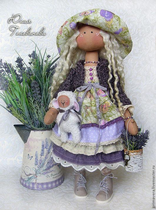 текстильная кукла, авторская кукла, кукла текстильная, кукла коллекционная, кукла в подарок, интерьерная кукла, бохо-шик, бохо стиль,прованс, лаванда,  Юлия Голованова, Ярмарка мастеров