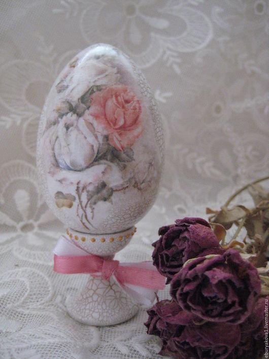 Яйцо интерьерное Розы`. Ярмарка Мастеров. Купить яйцо интерьерное, пасхальное. Пасха.