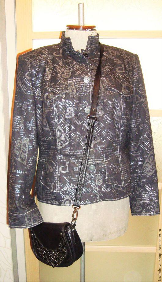 Пиджаки, жакеты ручной работы. Ярмарка Мастеров - ручная работа. Купить КУРТКА-ПИДЖАК. Handmade. Чёрно-белый, пиджак укороченный