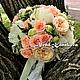 Свадебные цветы ручной работы. Ярмарка Мастеров - ручная работа. Купить Букет невесты из пионов. Handmade. Букет невесты