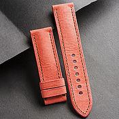Украшения handmade. Livemaster - original item Calf leather watchband (94). Handmade.