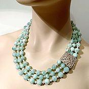 Украшения handmade. Livemaster - original item Necklace with chrisopulos and pearls. Handmade.