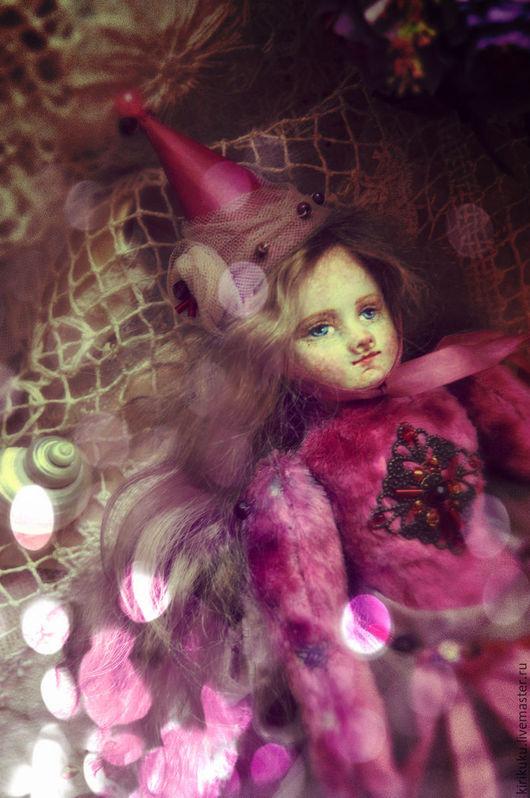 Коллекционные куклы ручной работы. Ярмарка Мастеров - ручная работа. Купить Аннабель, дочь Волшебника... Тедди-долл. Handmade. Фуксия