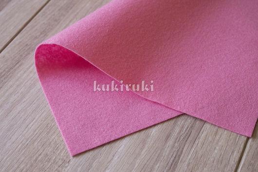 Валяние ручной работы. Ярмарка Мастеров - ручная работа. Купить Розовый мягкий корейский фетр. Handmade. Фетр, фетр для творчества