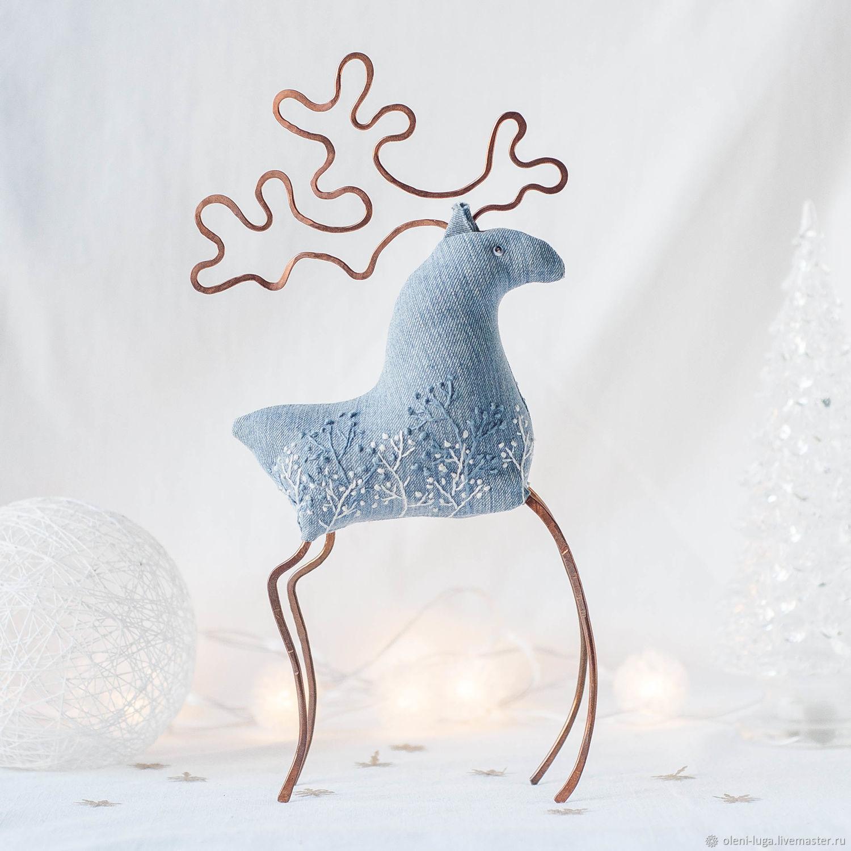 Рождественская интерьерная игрушка олень в скандинавском стиле, Декор в стиле Тильда, Санкт-Петербург,  Фото №1