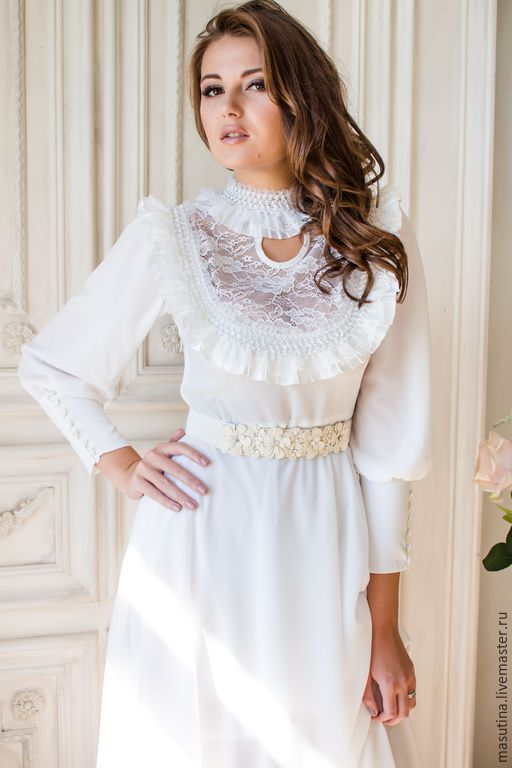 """Платья ручной работы. Ярмарка Мастеров - ручная работа. Купить Платье """"Nevesta"""". Handmade. Белый, белое платье"""