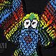 Колье, бусы ручной работы. Колье Tribal owl Rainbow. Ирина Заяц (Мастерская КИМ). Интернет-магазин Ярмарка Мастеров.