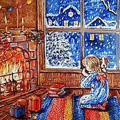 Картины и панно ручной работы. Ярмарка Мастеров - ручная работа Желанный подарок картина маслом. Handmade.