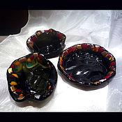 """Посуда ручной работы. Ярмарка Мастеров - ручная работа Набор посуды """"В подарок"""" из цветного стекла.. Handmade."""