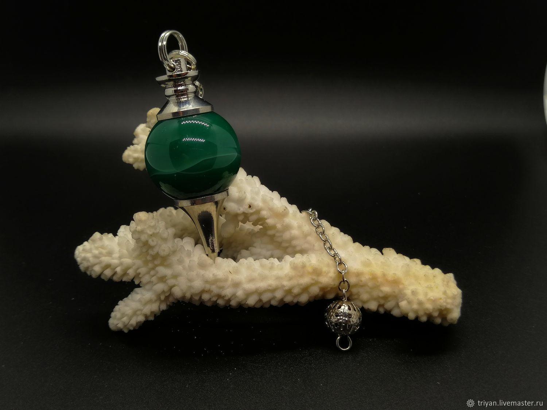 Эзотерические аксессуары ручной работы. Ярмарка Мастеров - ручная работа. Купить Маятник из зелёного агата. Handmade. Магия, зеленый, эзотерика