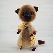 Куклы и игрушки handmade. Livemaster - original item Knitted interior toy Cat. Handmade.