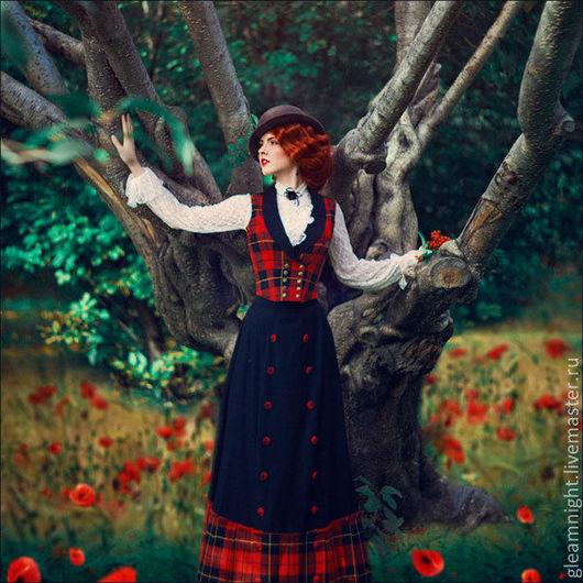 """Костюмы ручной работы. Ярмарка Мастеров - ручная работа. Купить Комплект для леди """"Шотландия"""". Handmade. В клеточку, юбка в пол"""